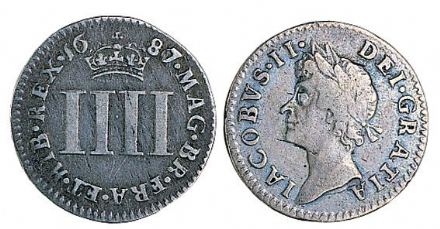 James II Silver Fourpence 1685-1688
